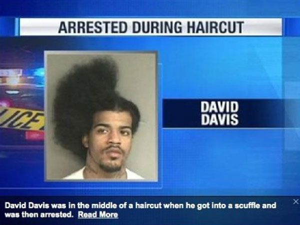 Arrested During #Haircut Picture Will Make You LOL #wtf #epicfail