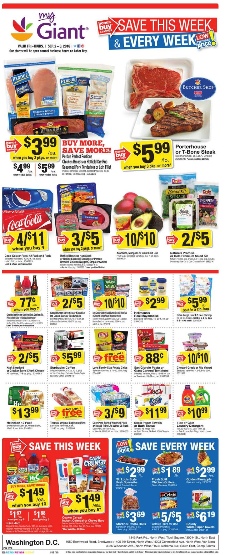 Giant Food Weekly Ad  September 2 - 8, 2016 - http://www.olcatalog.com/grocery/giant-food-weekly-ad.html