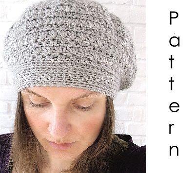 Patrones de boinas tejidas a crochet - Moldes Para Manualidades                                                                                                                                                                                 Más