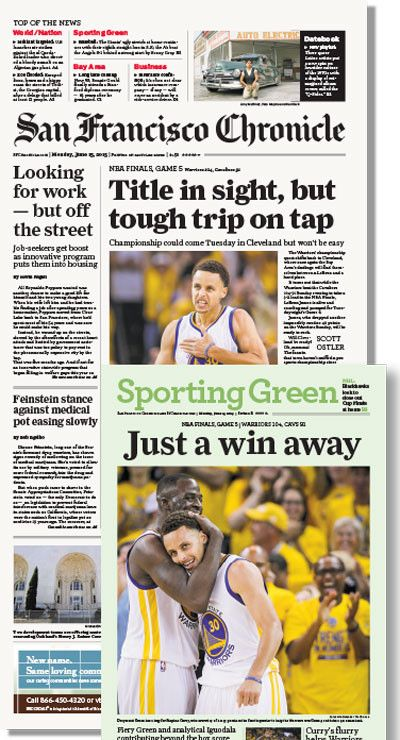 Chronicle 6/15 issue featuring NBA Final Game 5