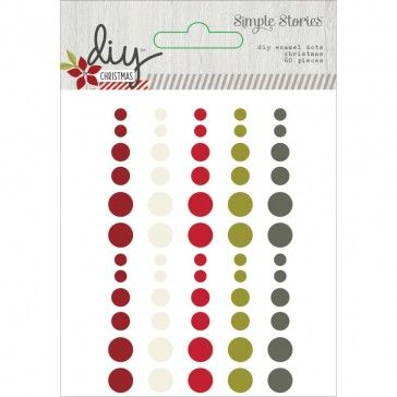 4,40 Simple Stories DIY Christmas Enamel Dots Embellishments