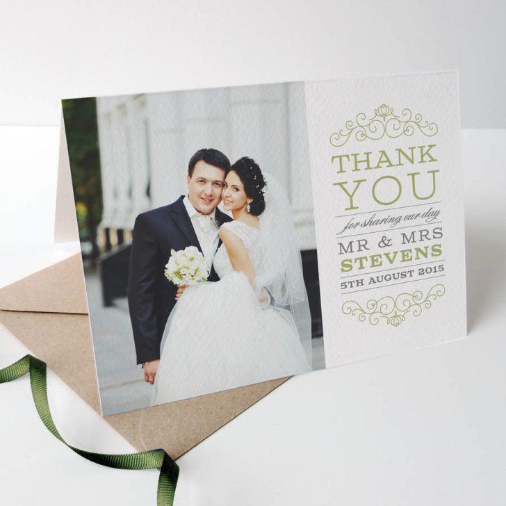 Wedding Eva Wedding Photo Thank You Card