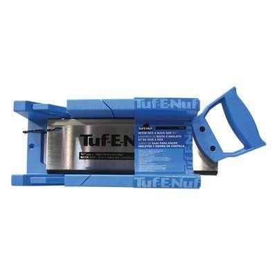 Task Tools 04450 Tuf-E-Nuf Backsaw with Miter Box