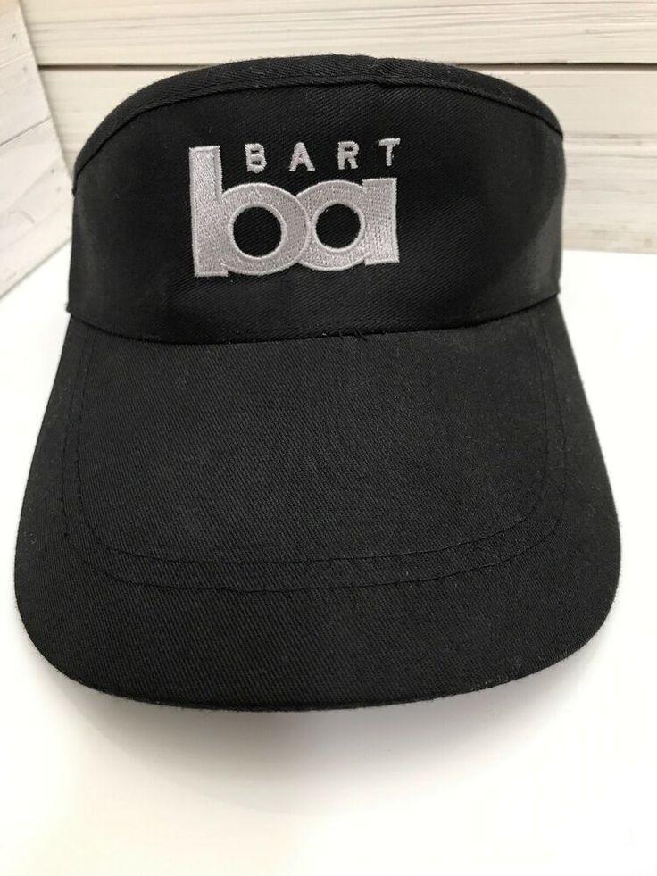BART Bay Area Rapid Transit Visor Cap Hat Adjustable Black