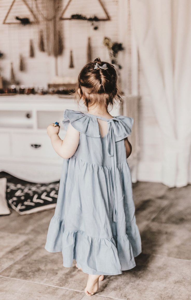 df3cac38275c1 Girls Handmade Natural Linen Dress | MamaLamaDesign on Etsy | {the ...