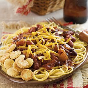 Homestyle Soups and Stews from Gooseberry Patch  | Vegetarian Cincinnati Chili | MyRecipes.com