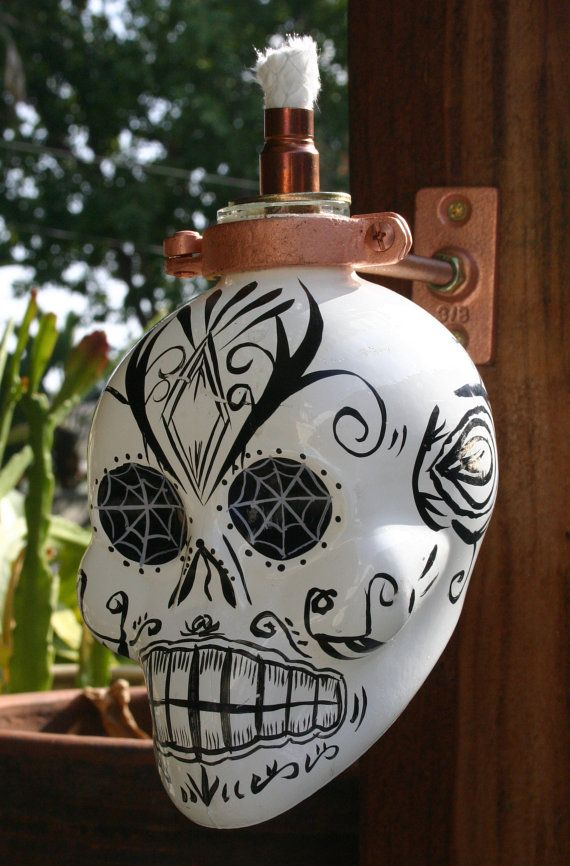 Hey, I found this really awesome Etsy listing at http://www.etsy.com/listing/116578912/kah-blanco-skull-tequila-tiki-torch-oil