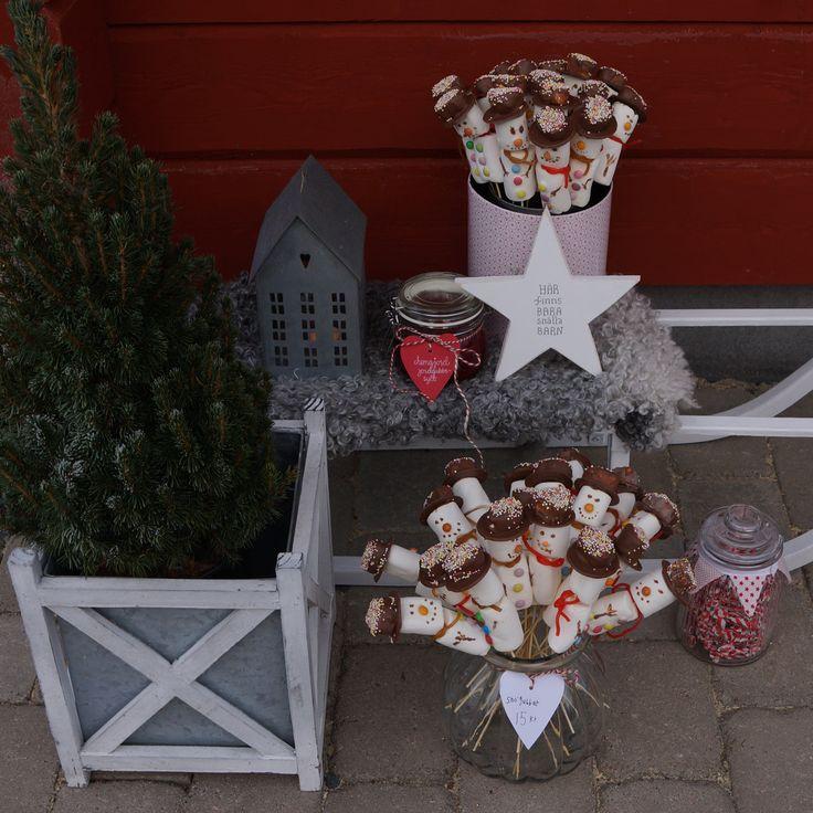 Julmarknad, Walther & co, snowman, snögubbe, marshmallows, stjärna, Dalarna, molban
