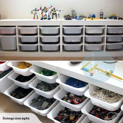 IKEA - TROFAST Storage system (kids lego storage) | Trade Me