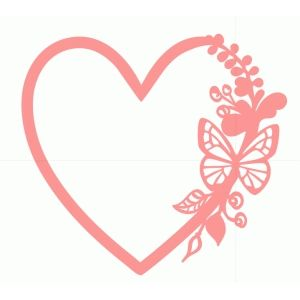 Silhouette Design Store - View Design #88577: flourish heart