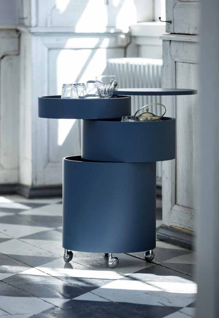 Barboy by Verpan - Adaptable side table and mobile storage unit in one. Design Verner Panton