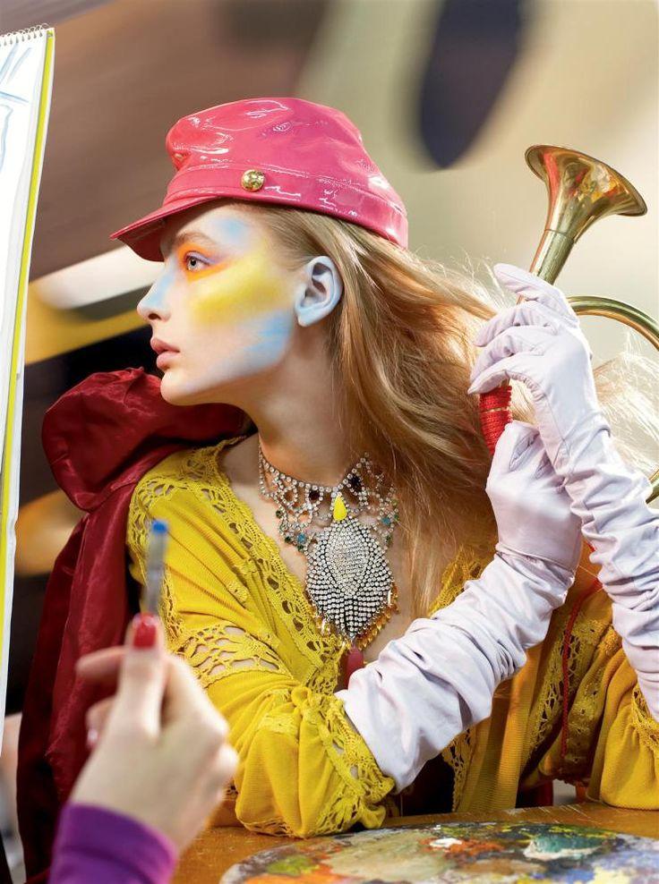 Sasha Pivovarova, Snejana Onopka, Caroline Trentini & Lily Donaldson by Steven Meisel for Vogue US March 2006 6