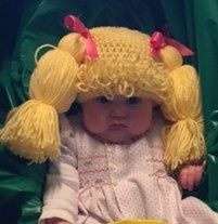 Cabbage Patch Kids Hat Cabbage Patch Kids Wig Baby Girl Doll
