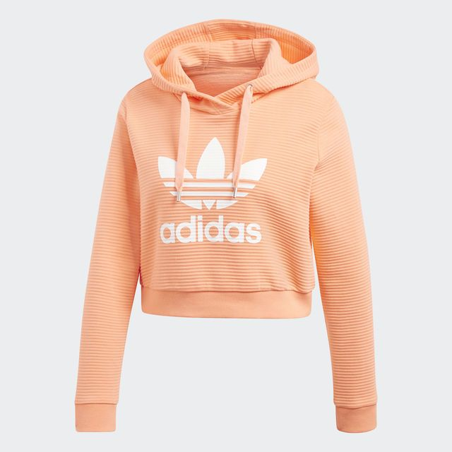 06263622a4 adidas Trefoil Cropped Hoodie - Orange | adidas US | Fashion ...