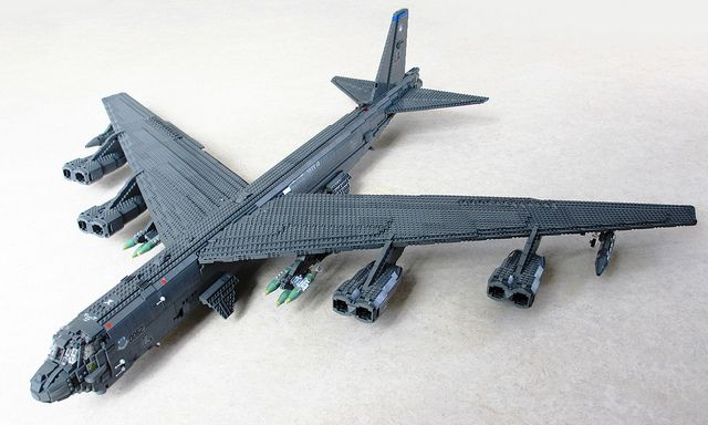 LEGO B-52H Stratofortress (1) by Mad physicist, via Flickr