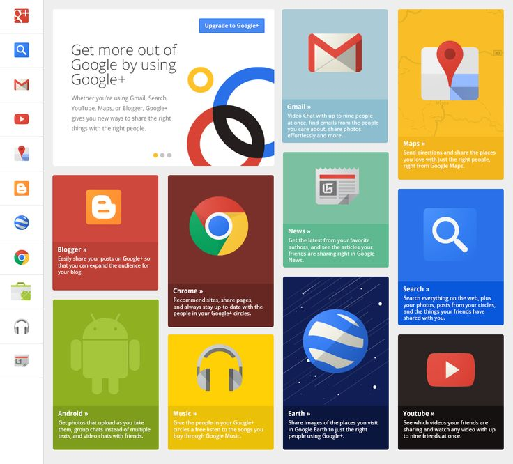 Google+ Grid UI by UENO