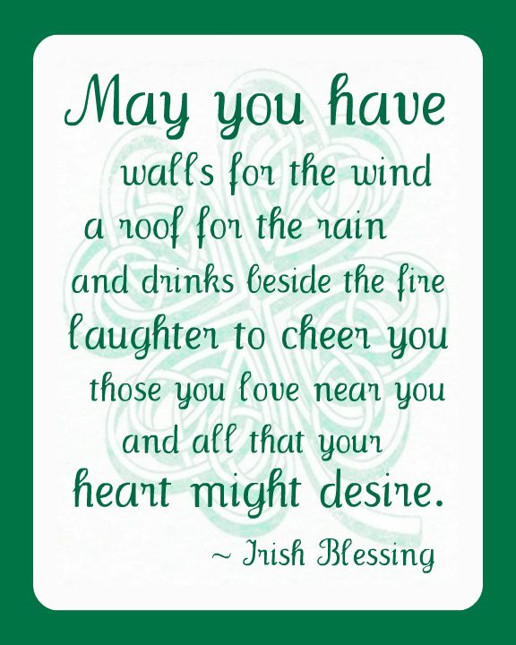 St. Patrick's Day ~ Irish Blessing Printable