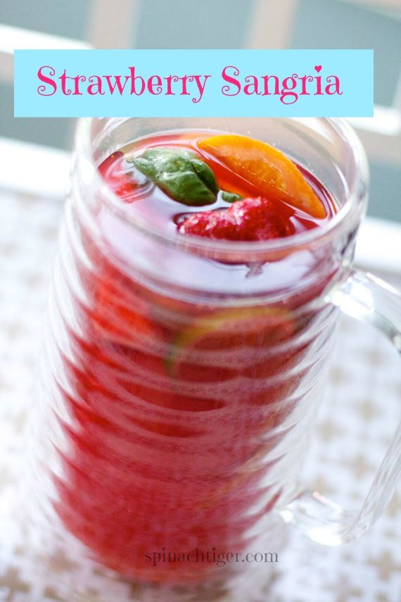 Strawberry Sangria Perfect for #summer cocktails.