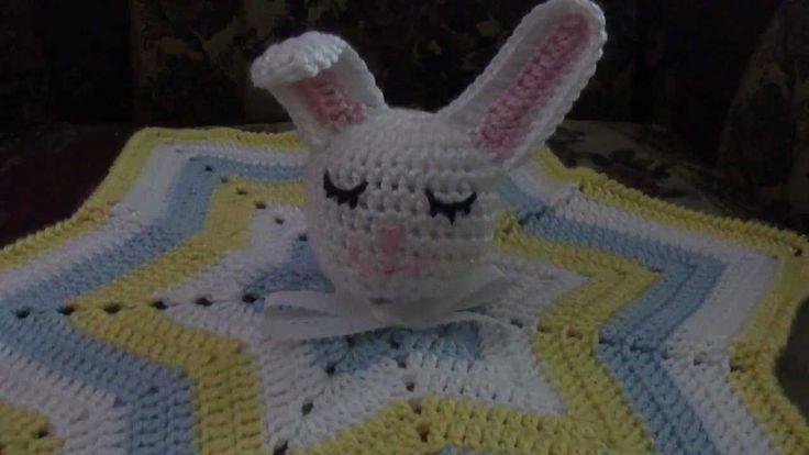 Crochet Sleepy Bunny Lovey