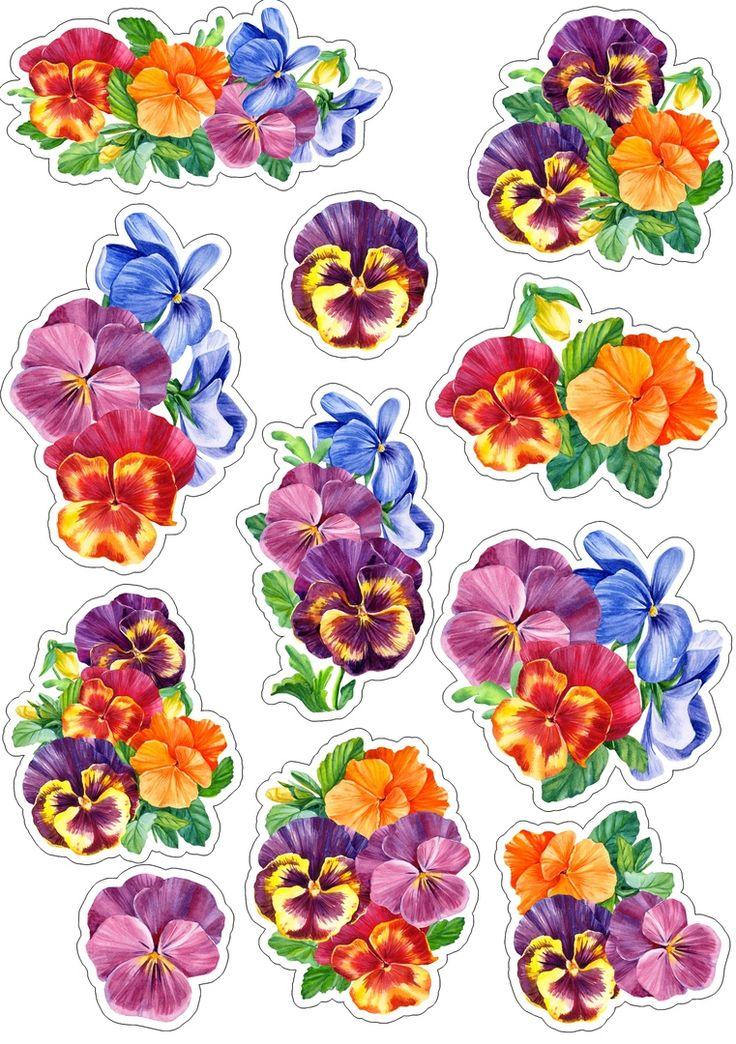 сверх цветочки картинки шаблоны для вырезания цветные дома