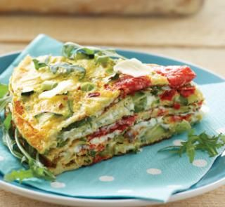 Savoury layer cake is tasty, fast and gluten-free! Get the recipe on our website | Australian Healthy Food Guide