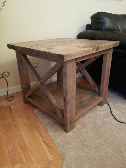 Ana White's Rustic X End Table