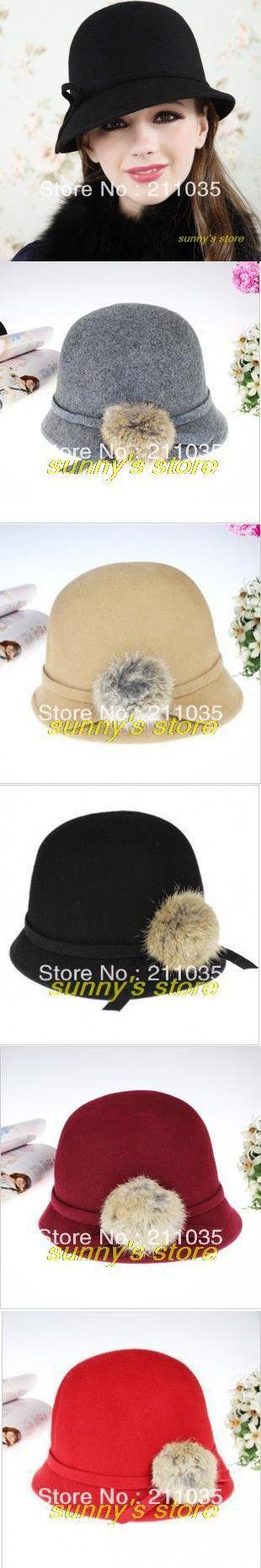Fashion Europe American Fedora 100% wool from Australian Cloche Hat For Women Tr… – Sombreros
