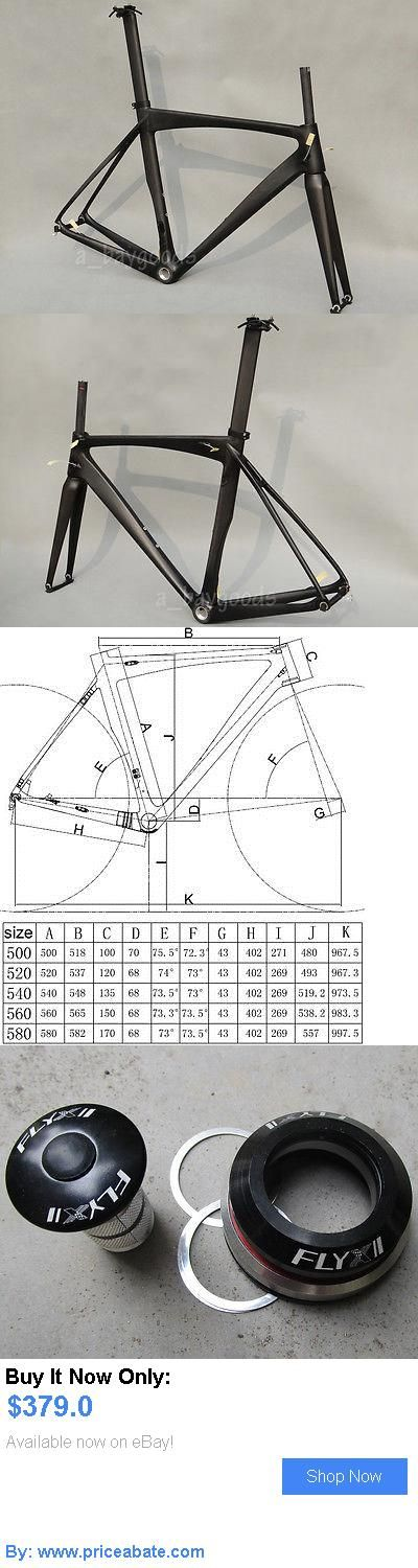 bicycle parts: Full Carbon Matt Cycling Road Bike Frame 54Cm Bb30 Fork Seatpost Clamp Headset BUY IT NOW ONLY: $379.0 #priceabatebicycleparts OR #priceabate