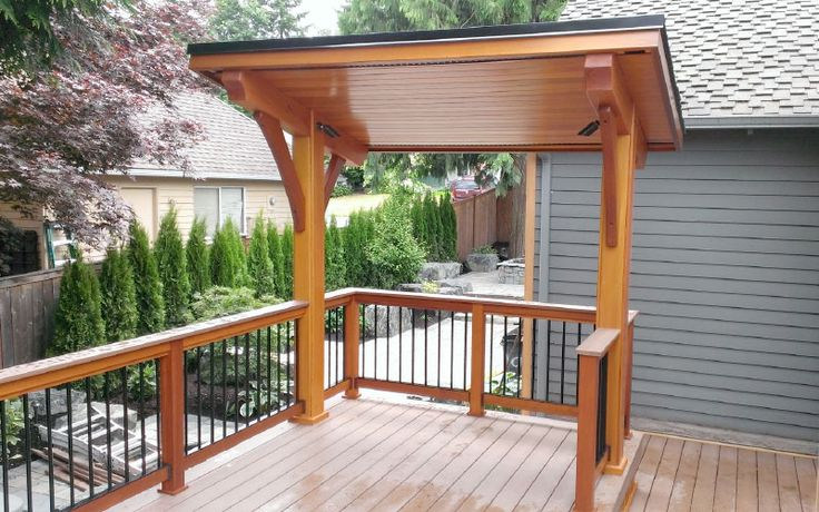 Covered Bbq Area In Deck Google Search Decks And