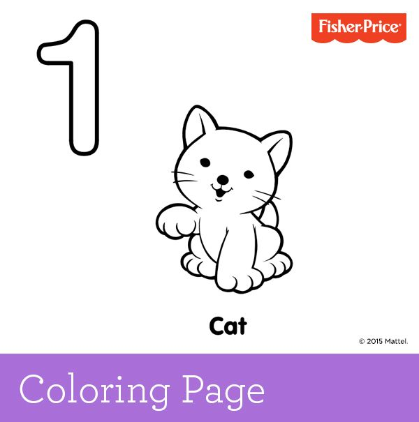 learning to count number we have one little cat who knows where its at someone needs to help find this cats hat print out this cute coloring page and