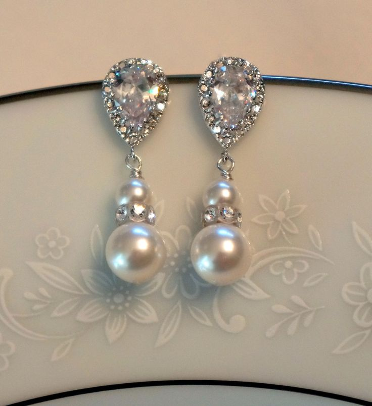 ON SALE Crystal Bridal Earrings  Bridal Jewelry  by PoetryBridal, $29.95