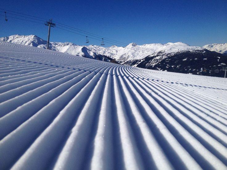 Ski du matin. Crédit photo Nathanael Gaumeton