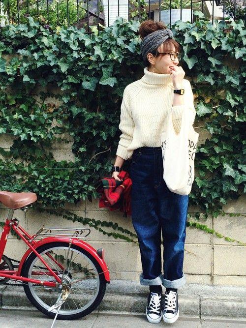 SIZUさんのスニーカー「Rinajour CONVERSE (コンバース)【メンズ・ウイメンズ】キャンバスオールスターロー ALL STAR  チャックテイラー (1035)」を使ったコーディネート