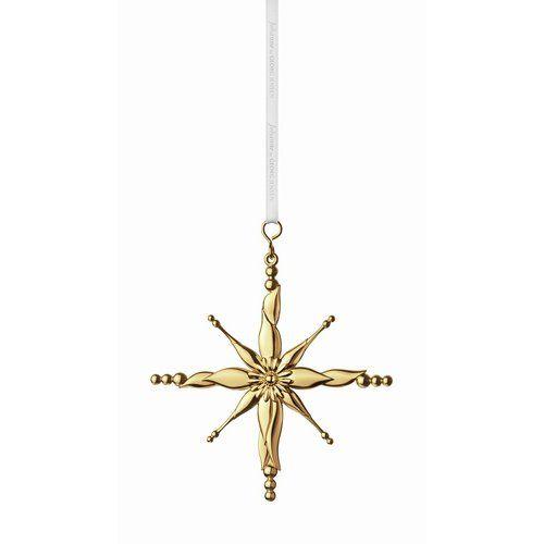 JOH Ornament stjerne, stor, gull, Georg Jensen