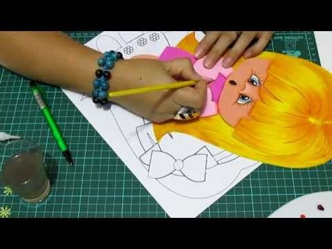 DIY Niña para Forro de Cuaderno en Fomi, Goma Eva, Microporoso, Easy Crafts - YouTube