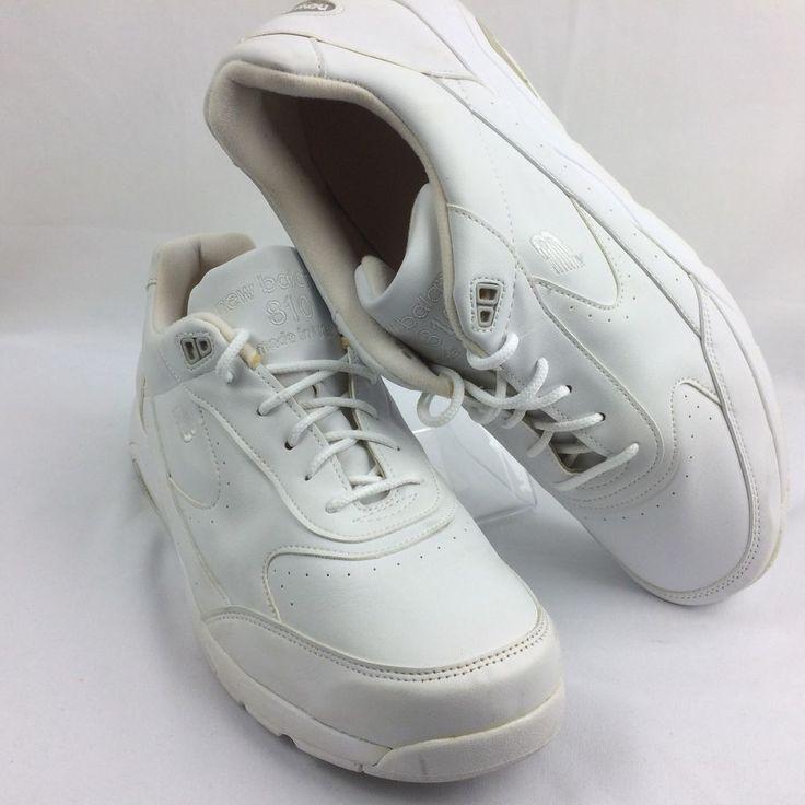 New Balance Mens Walking Shoes Motion Control White Leather Rollbar Size 11 - 6E #NewBalance #Walking
