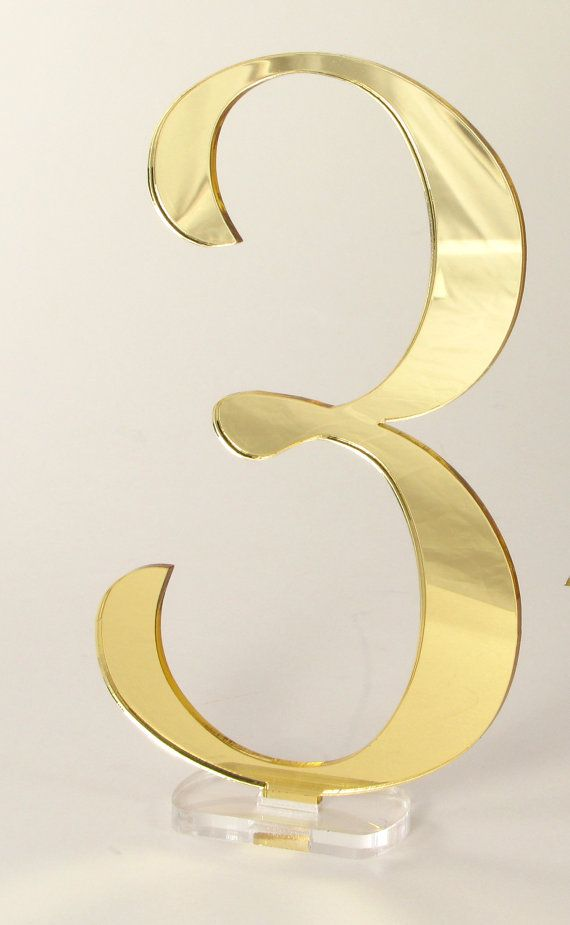 5 1 4 Inches Tall Wedding Table Numbers Gold By