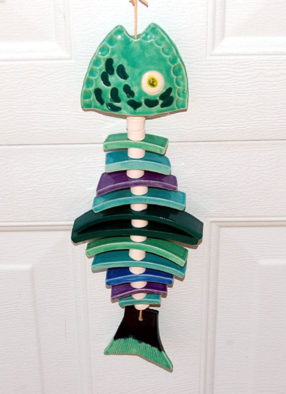 17 best ideas about clay fish on pinterest ceramic fish for Fish wind chimes