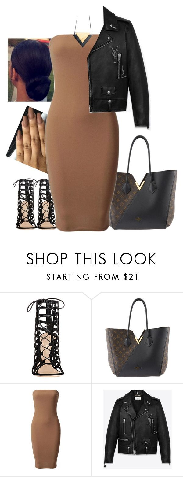"""""""Join Girl Gang"""" by jeansnotgenes ❤ liked on Polyvore featuring Gianvito Rossi, Louis Vuitton, Yves Saint Laurent, StreetStyle and girlgang"""