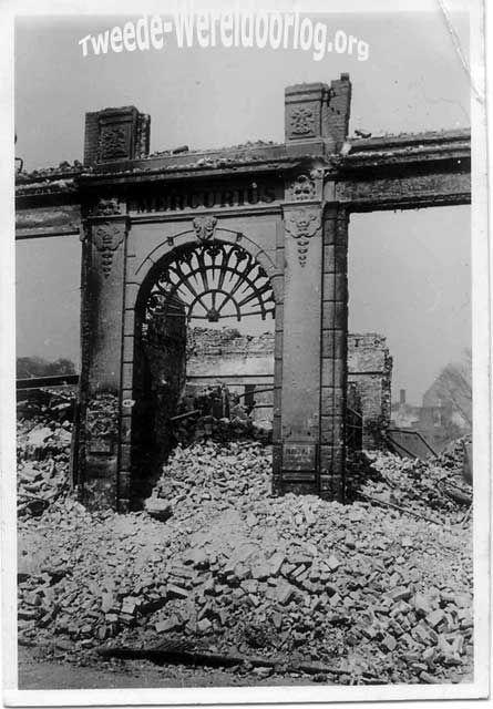 Nederland in de Tweede Wereldoorlog - Bombardememt op Rotterdam Boompjes