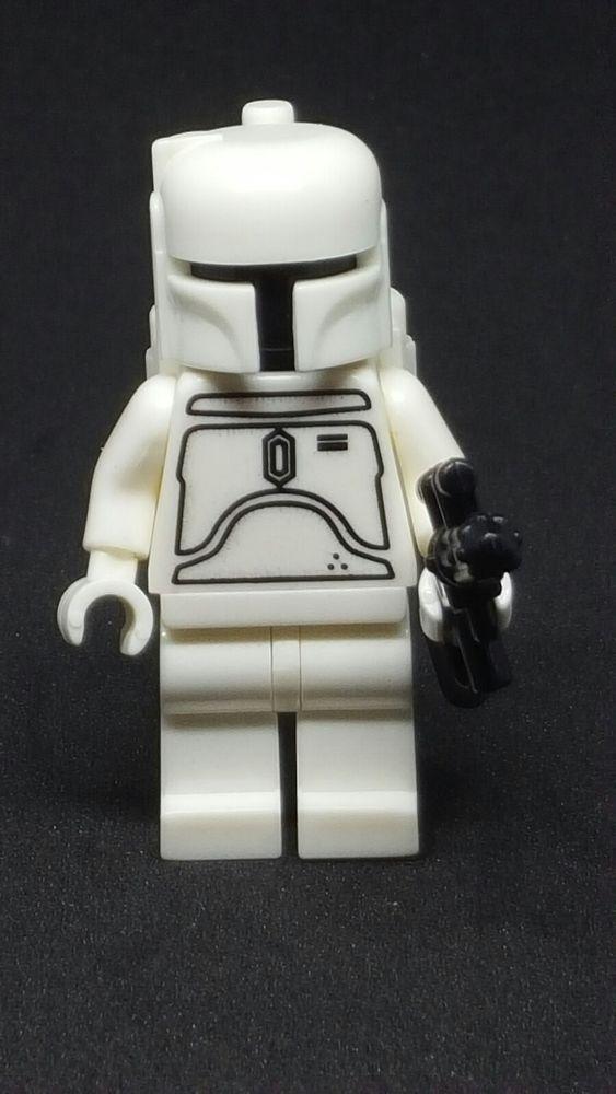 Custom Lego Star Wars White Boba Fett Minifigure Afflink Lego