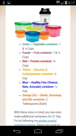 anyone know the sizes of the 21 day fix containers? | Yahoo Answers