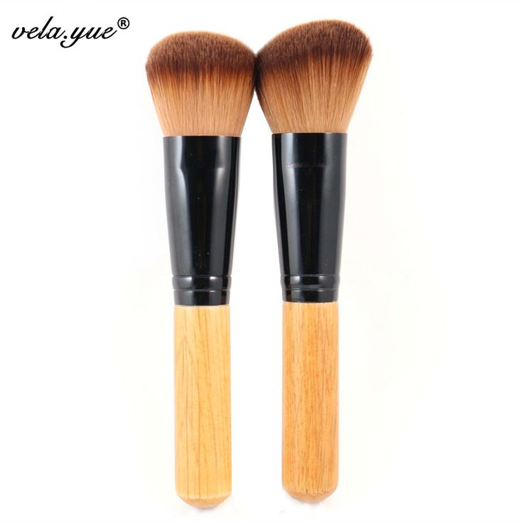 Pinceles de Maquillaje profesional Determinado 2 unids Multipurpose Pinceles Para Maquillaje de Cara Redonda + Angular