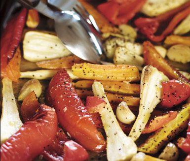Ugnsrostade grönsaker; 200 grader i 30 minuter!