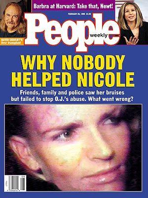 photo | Domestic Violence, OJ Simpson Trial, Gripping News Stories, Barbra Streisand, David Crosby, Nicole Brown Simpson, O.J. Simpson