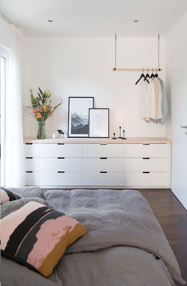 Schlafzimmer mit Ikea Nordli DIY