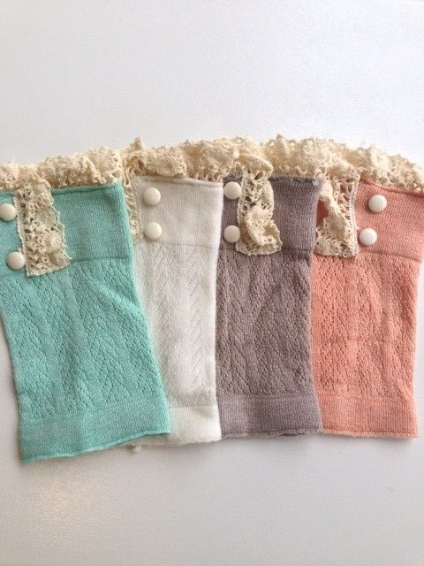 Boot Cuffs With Antique Lace