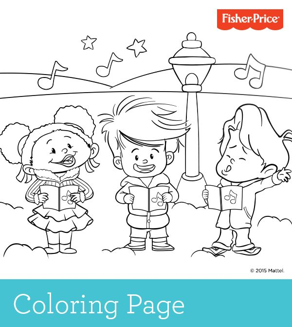 caroling and coloring two fun activities in one look for this free coloring page and others. Black Bedroom Furniture Sets. Home Design Ideas