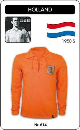 Nederland voetbalshirt jaren '50 Holland retro voetbal truitje football soccer vintage sport COPA