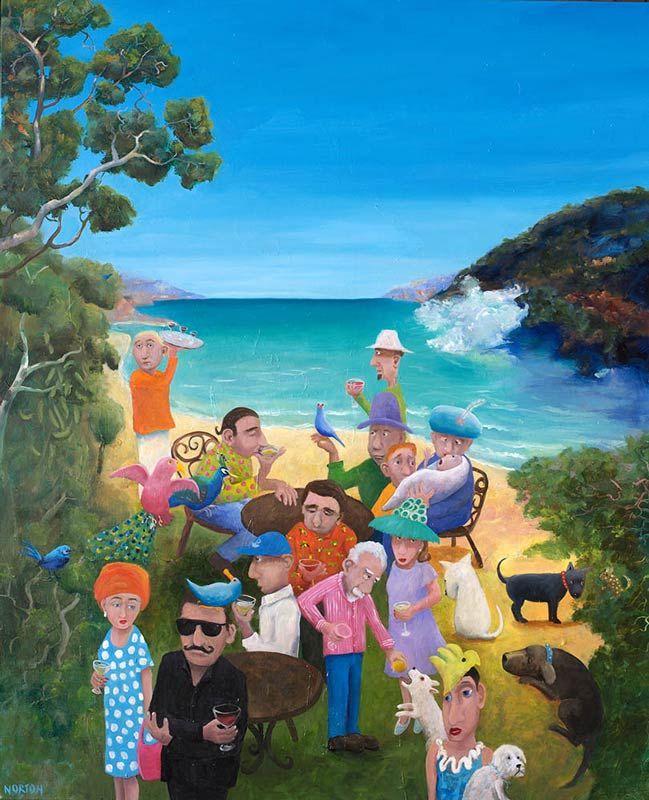Helen Norton - The Wine Tasting - Sea - Margaret River - Colourful